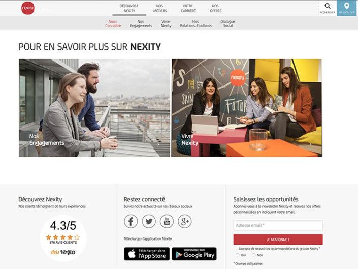Reportage site web Nexity