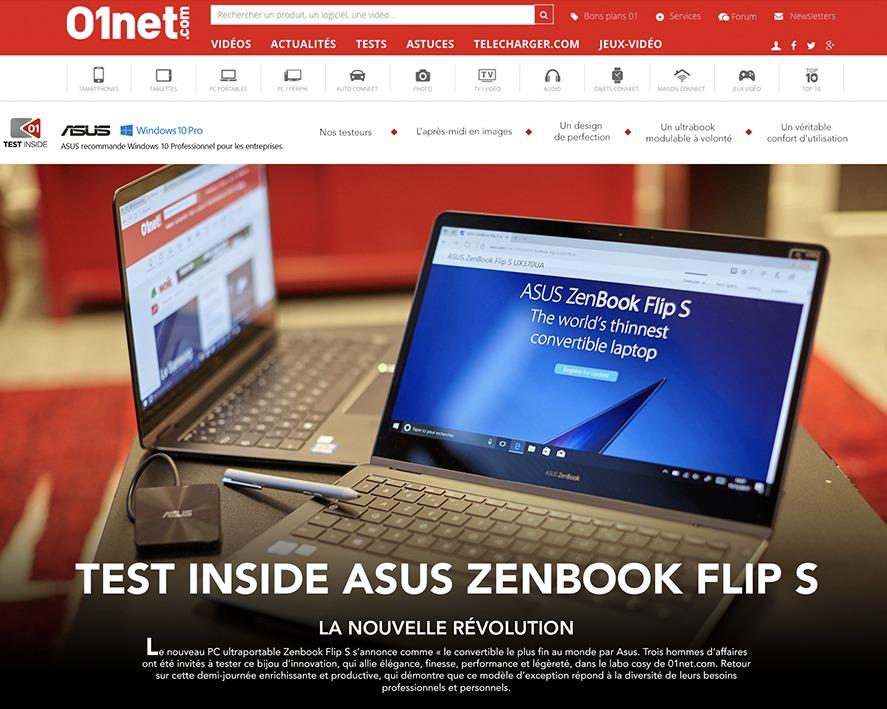 Reportage site internet 01Net.com