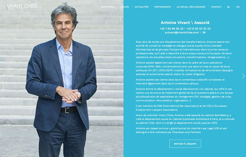 Portrait avocat Antoine Vivant